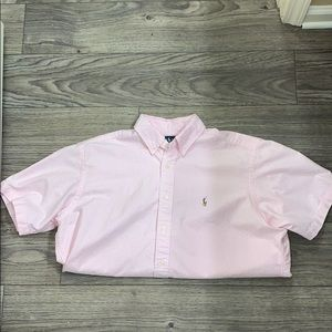 NWOT Ralph Lauren Baby Pink & White Striped Shirt